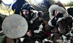 Husky Dog Sledding and Chukotka Folk Show near Moscow